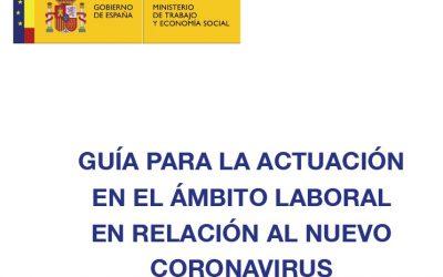 Guía para la actuación en el ámbito laboral en relación al nuevo coronavirus